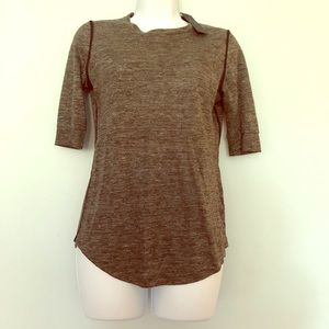Marc by Marc Jacobs grey linen top